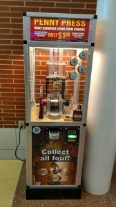 Pressed Penny machine in an Ohio rest stop along I-90. What a monstrosity! Click through to find out why!