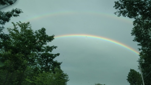 Double Rainbow during #vermontime